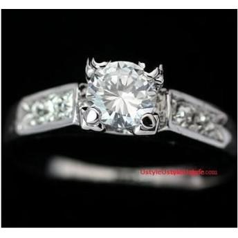 K18本物1ctの輝きダイヤモンドCZ彩石リング☆【レディース、アクセサリー、指輪、リング、ジュエリー、K18RGP】