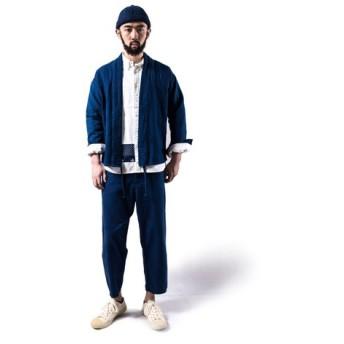 メンズ 藍染め インジゴ シャツ Flanel Lhamo shirt