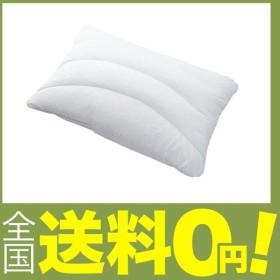 西川リビング 枕 ホワイト 43×63cm ピロギャラリー ウオッシャブル 両面使える 半パイプ まくら 高さ 普通 2430-1