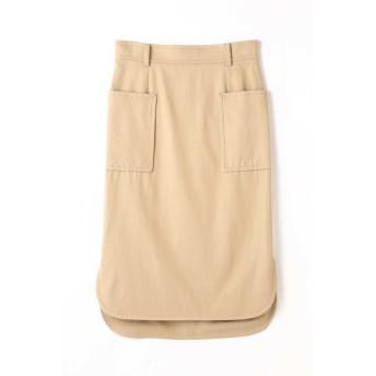 アッシュ・スタンダード H/standard ビスコースツイルスカート ベージュ S【税込10,800円以上購入で送料無料】