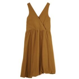アッシュ・スタンダード H/standard [ELIN]Cotton puffy dress ブラウン S【税込10,800円以上購入で送料無料】