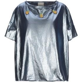 《期間限定 セール開催中》JIJIL レディース T シャツ ブルー 40 コットン 100%