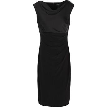 《セール開催中》LAUREN RALPH LAUREN レディース ひざ丈ワンピース ブラック 10 ポリエステル 95% / ポリウレタン 5% Jersey Cowlneck Dress