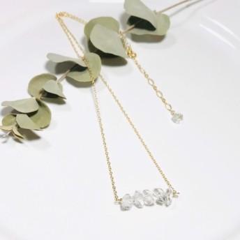 14kgf ハーキマーダイヤモンドのネックレス