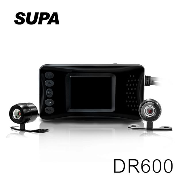 速霸 DR600 HD 雙鏡頭 防水防塵 高畫質機車行車記錄器 【凱騰】