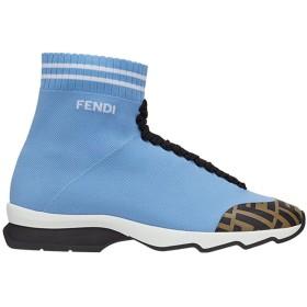 Fendi ロココ スニーカー - F15el-Azul Cl White+Tob. Bl