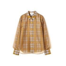 アッシュ・スタンダード H/standard レイヤードチェックシャツ イエロー M【税込10,800円以上購入で送料無料】