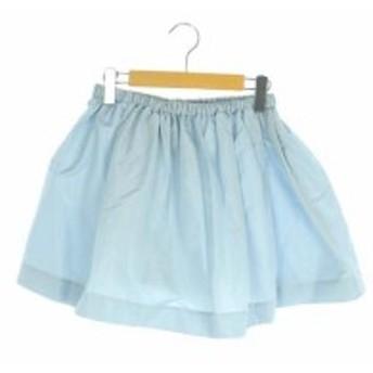 【中古】ミュウミュウ miumiu スカート ミニ ギャザー 36 水色 /HA ■CO1 レディース