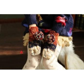 ウール 手袋 女の子 レディース 雪遊び 裏起毛 加厚 グローブリスマスプレゼント スマホ用手袋 可愛い