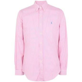 《期間限定 セール開催中》POLO RALPH LAUREN メンズ シャツ ピンク L コットン 100% Slim Fit Gingham Cotton Shirt