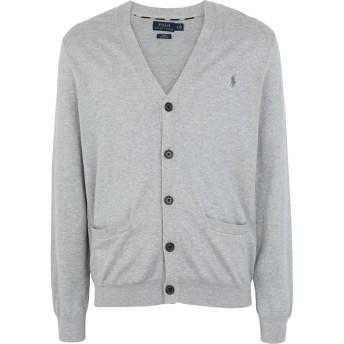 《9/20まで! 限定セール開催中》POLO RALPH LAUREN メンズ カーディガン グレー XS コットン 100% Slim Fit Cotton Sweater Cardigan
