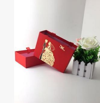 【婚禮回禮贈品-喜糖盒-16.5x12.5x6CM-10個-組】婚慶個性結婚喜糖盒婚禮回禮抽屜式-726001