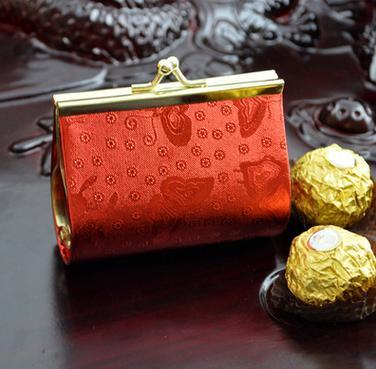 【婚禮回禮贈品-零錢喜糖包-大號(不含穗)10.5x4x7.5CM-10個-組】婚慶用品零錢喜糖包-726001