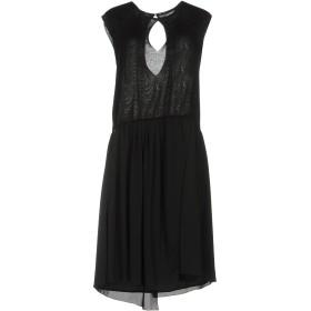 《セール開催中》MANILA GRACE レディース ミニワンピース&ドレス ブラック 42 レーヨン 70% / ナイロン 15% / ポリエステル 15%