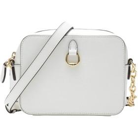 《セール開催中》LAUREN RALPH LAUREN レディース メッセンジャーバッグ ホワイト 牛革 100% Saffiano Leather Crossbody Bag