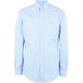 《期間限定セール開催中!》POLO RALPH LAUREN メンズ シャツ スカイブルー L コットン 100% Slim Fit Gingham Cotton Shirt