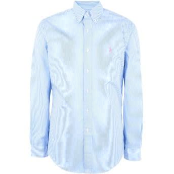 《期間限定 セール開催中》POLO RALPH LAUREN メンズ シャツ スカイブルー L コットン 100% Slim Fit Gingham Cotton Shirt