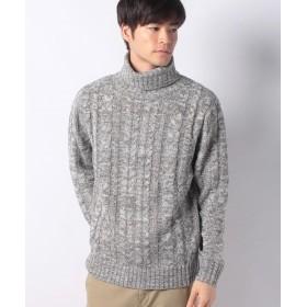 【51%OFF】 マルカワ セーター ケーブル 編み タートルネック メンズ ミディアムグレー M 【MARUKAWA】 【セール開催中】
