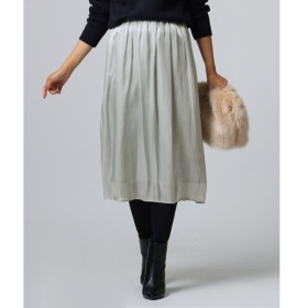 UNTITLED / アンタイトル [L]【洗える】サテン消しプリーツスカート