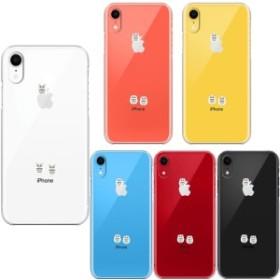 iPhoneXR ワイヤレス充電対応 ハード クリア 透明 ケース カバー ふくろう 三羽