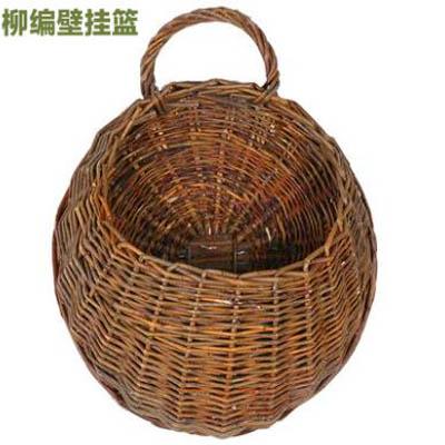 【柳編壁掛籃+掛鉤-直徑約31cm-1套】模擬壁掛房間室內裝飾花-5170852