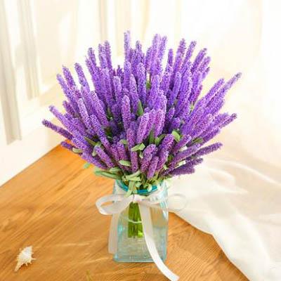 【模擬薰衣草把束-12頭-長約40cm-10枝-套-1套】假花客廳裝飾花卉花束插花-5170852