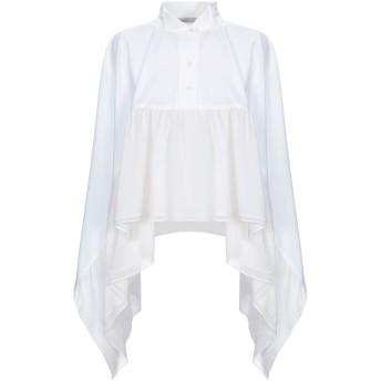 《セール開催中》GENTRYPORTOFINO レディース シャツ ホワイト 40 コットン 96% / ポリウレタン 4% / シルク