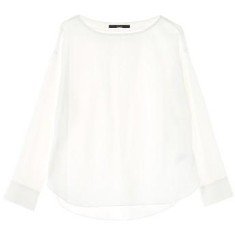 Munich ミューニック バックギャザーコットンシャツ シャツ・ブラウス,ホワイト