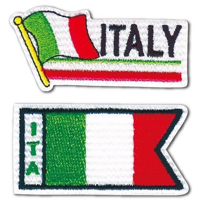 05202 国旗ワッペンシリーズ「イタリア」アイロン・シール両用タイプ