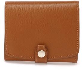 TOPKAPI 角シボ型押し 折り財布 財布,キャメル