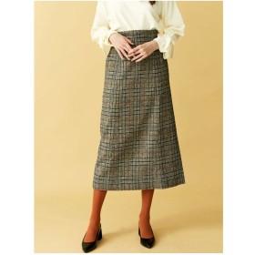 LAGUNAMOON チェックハイウエストタイトスカート(ブラック)