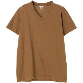 FilMelange フィルメランジェ/ビクター VネックTシャツ Tシャツ・カットソー,ブラウン