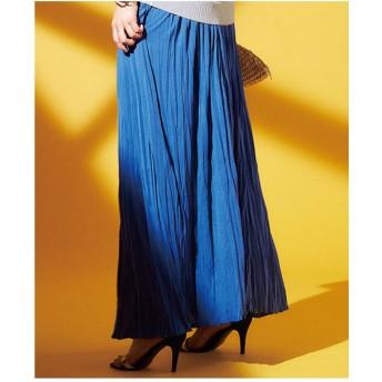 Ranan カットソーマキシスカート(ブルー)