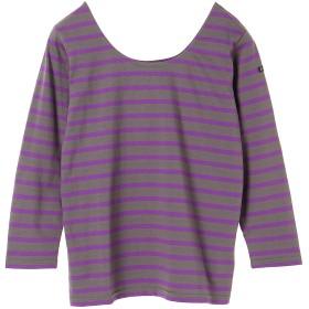 Le minor SHIRT Tシャツ・カットソー,グレー×パープル