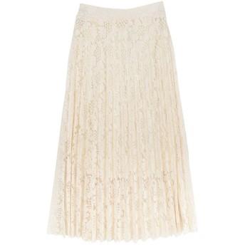 ユアーズ ur's レースプリーツスカート (ホワイト)