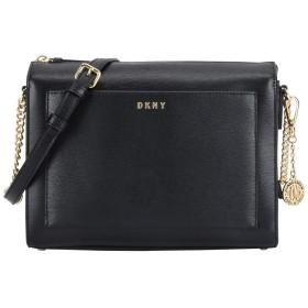 《セール開催中》DKNY レディース メッセンジャーバッグ ブラック 牛革 100% WOMEN'S HANDBAG