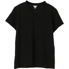 FilMelange フィルメランジェ/ビクター VネックTシャツ Tシャツ・カットソー,ブラック