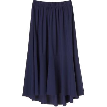 C+ C+/シー センシティブ スカート ミモレ丈・ひざ下丈スカート,ネイビー