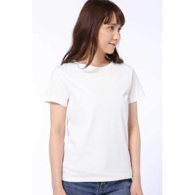 HUMAN WOMAN 50/2新きょう綿 半袖Tシャツ その他 カットソー,シロ