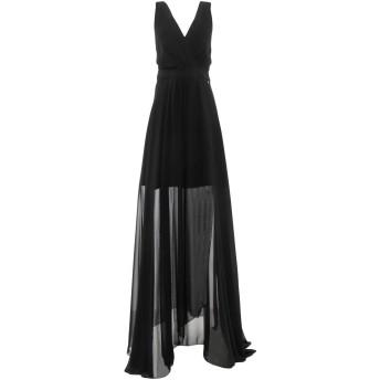 《セール開催中》MARY D'ALOIA レディース ロングワンピース&ドレス ブラック 44 ポリエステル 89% / ポリウレタン 11%