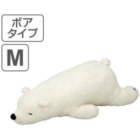 抱き枕 ぬいぐるみ 動物 ねむねむアニマルズ ボアタイプ ラッキー Mサイズ ( 抱きまくら ヌイグルミ 洗える )