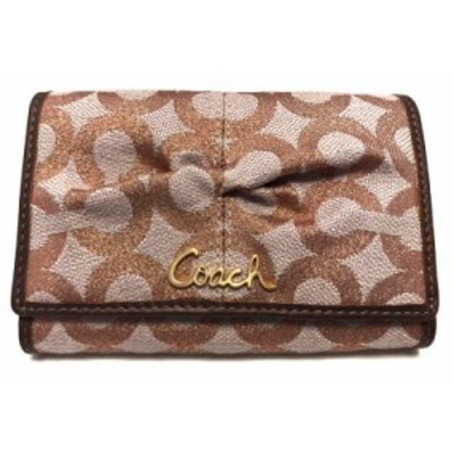 low priced 39be3 3a5a8 コーチ COACH 2つ折り財布 レディース オプアート ピンク ...