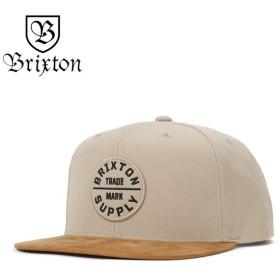 ブリクストン キャップ 帽子 スナップバック OATH III カーキ/タン BRIXTON メンズ