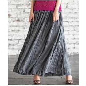 Ranan カットソーマキシスカート(モクグレー)