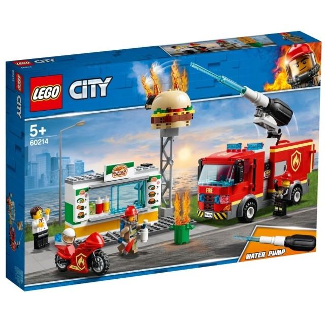 【オンライン限定価格】レゴ シティ 60214 ハンバーガーショップの火事