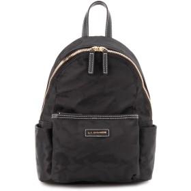 LA BAGAGERIE カモフラジャカードナイロン リュックサック Sサイズ リュック・バッグパック,ブラック
