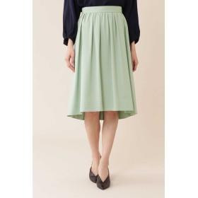 NATURAL BEAUTY タックギャザーふんわりカラースカート ひざ丈スカート,ジェイド1
