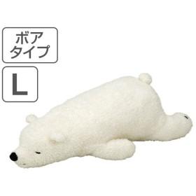 抱き枕 ぬいぐるみ 動物 ねむねむアニマルズ ボアタイプ ラッキー Lサイズ ( 抱きまくら ヌイグルミ 洗える )
