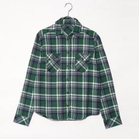 スタイルブロック STYLEBLOCK 綿ネル先染めチェックシャツ (グリーン)