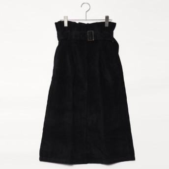 スタイルブロック STYLEBLOCK コーデュロイハイウエストロングスカート (ブラック)
